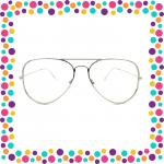 Gafas aviador vista plata